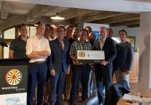 Dream4Kids cheque uitreiking van €10.000 dankzij het champagne project